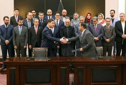 افغانستان از طریق خط آهن به بندر چابهار وصل می شود